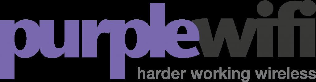 Purple wi-fi logo