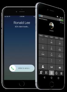 3CX + smartphone