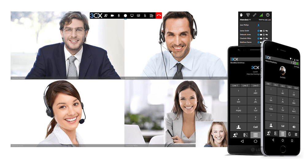 video conference smartphones orbex solutions 3cx PBX