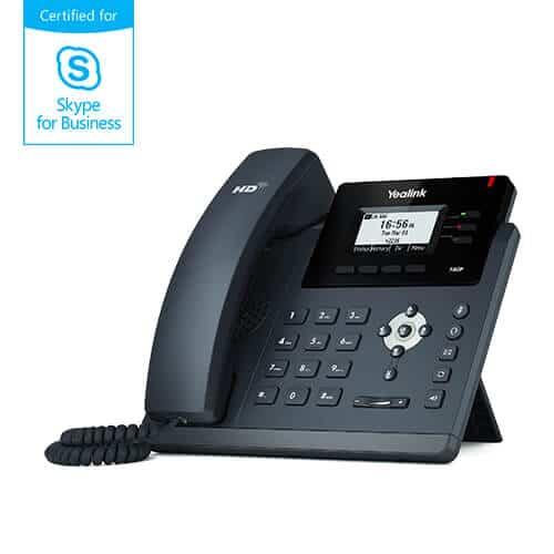 Yealink T40G Certofoed fpr Skype for business