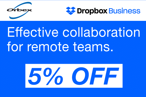 Dropbox 5% off - Orbex Solutions