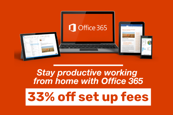 Office 365 – 33% off set up fees