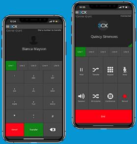3CX user manual transfer call
