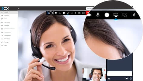 3CX user manual web conference