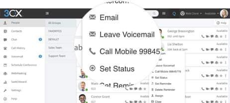 3CX user manual desktphone call