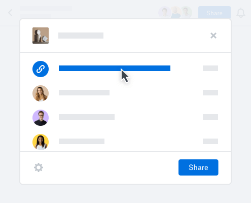 Dropbox shared file link